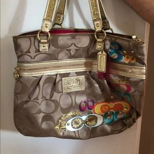 Coach poppy bag and wallet